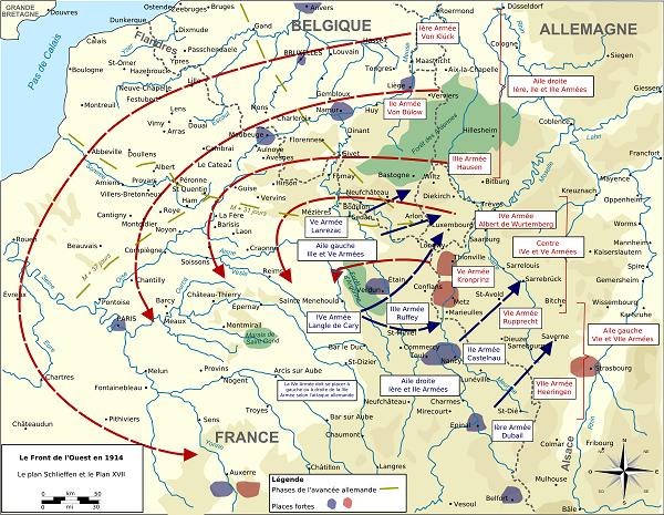 The Von Schlieffen plan, strategic movement at a grand-scale