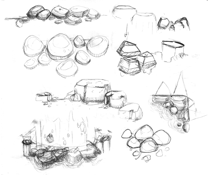 rocks sketches