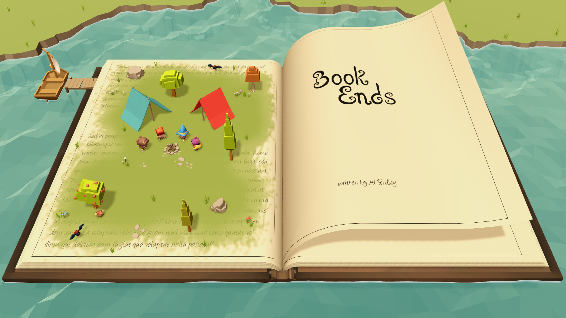 Book Ends Title Screen