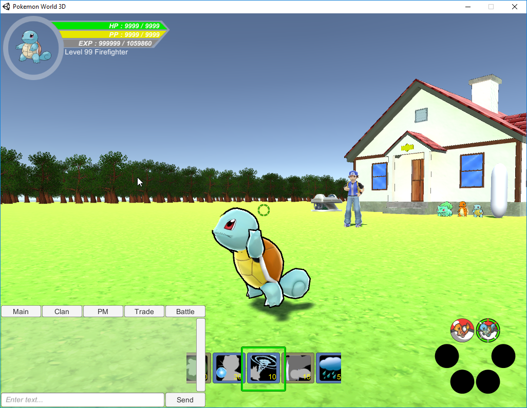 Squirtle starting to use Aqua Tail.