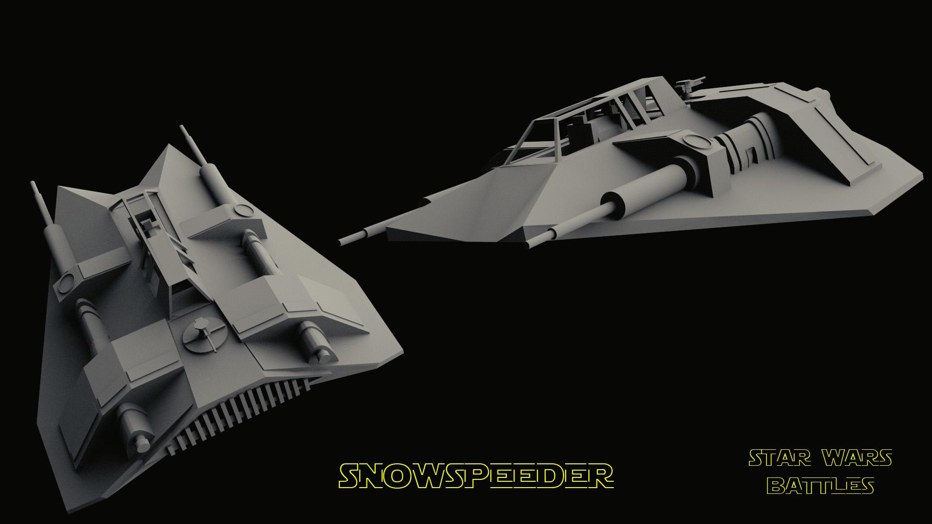 SnowSpeeder render