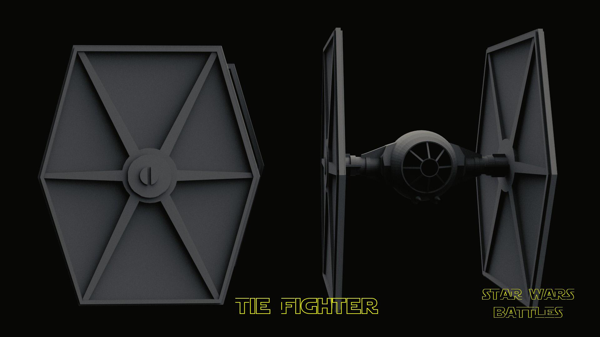 Tie Fighter render