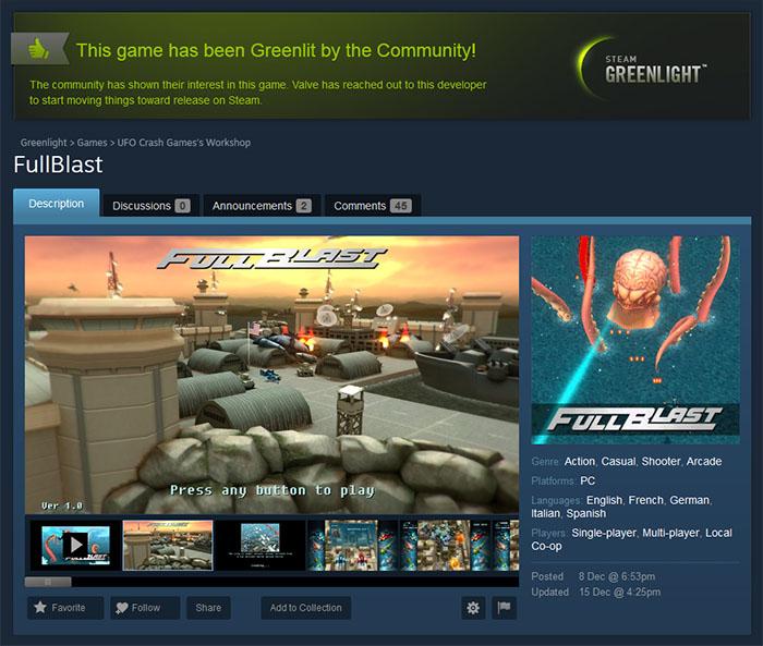 fullblast greenlit