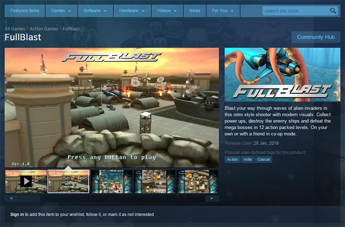 fullblast store page
