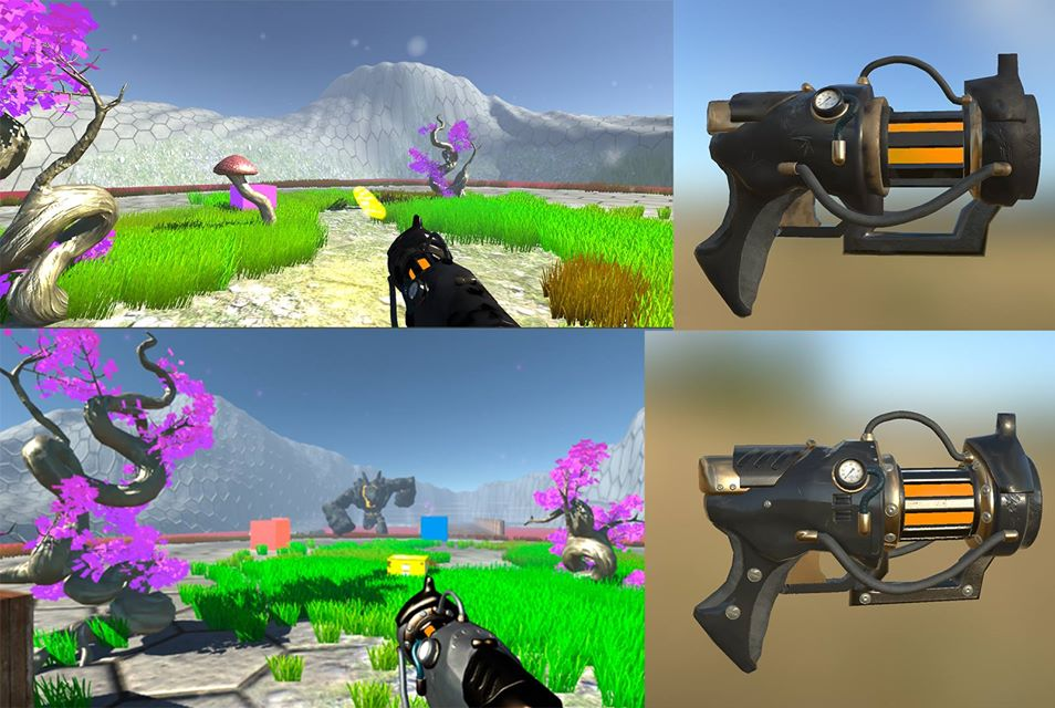 Also, here is the redesign of the Newton Gun : (The top ones are the ...