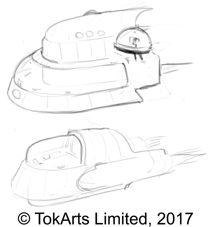 Daran Ship Sketches 2