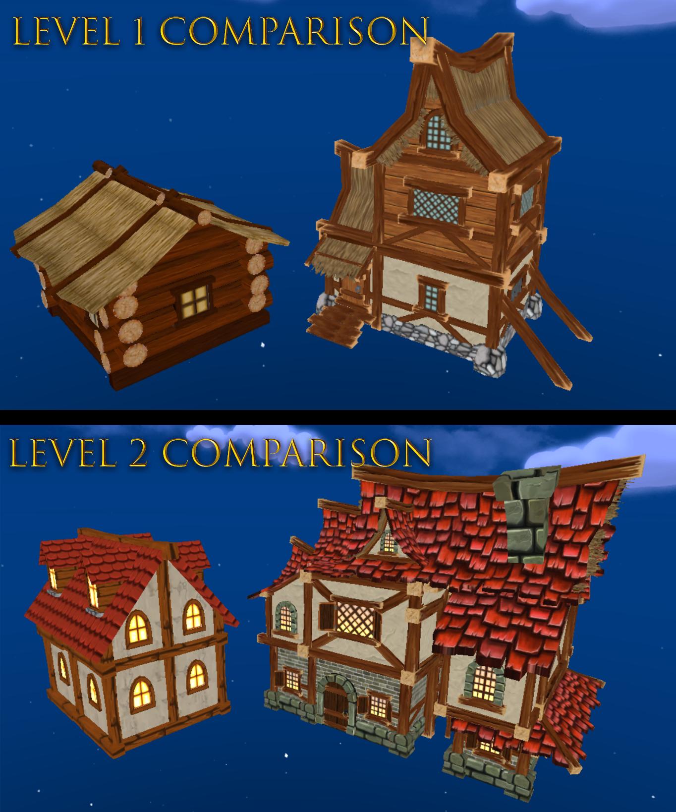 Shoppe Keep 2 - Building Comparisons