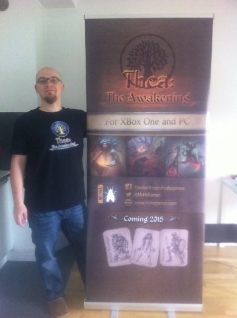 3.14 with our big banner at Digital Dragons conference