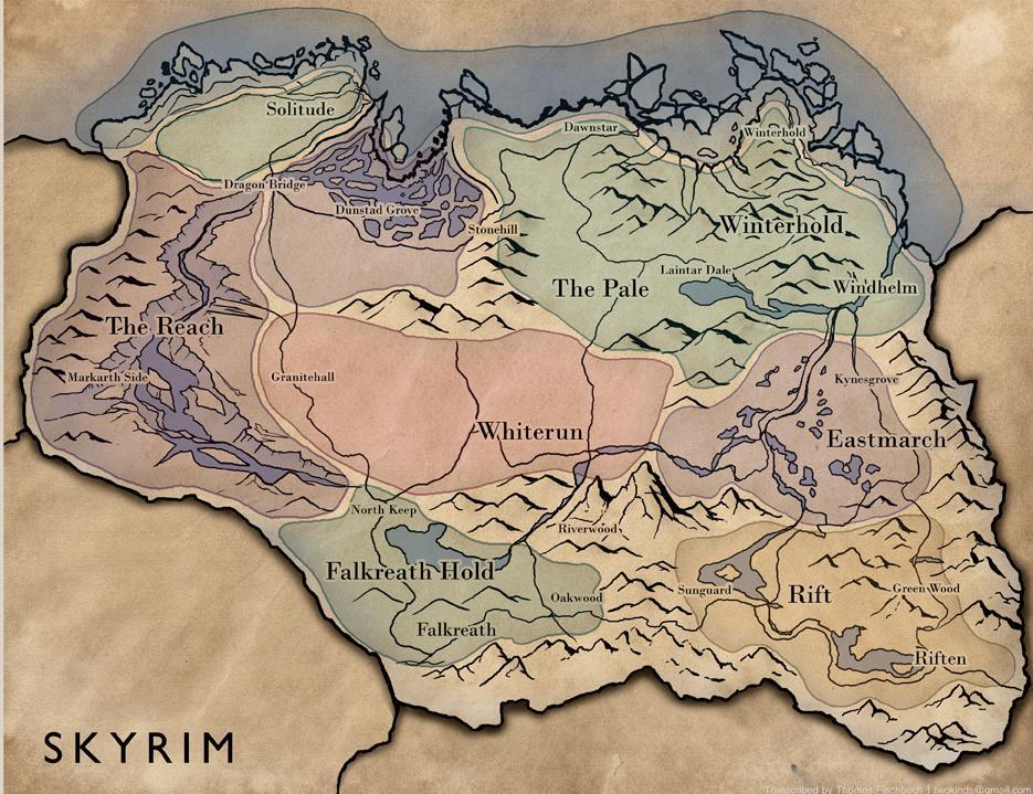 skyrim map elderscrolls skyrim p
