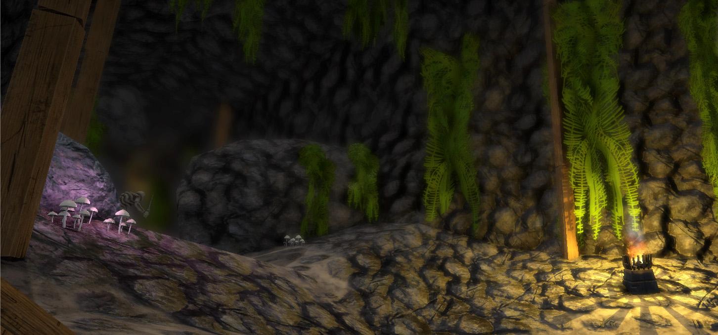 crimson keep backdrop ferns shro