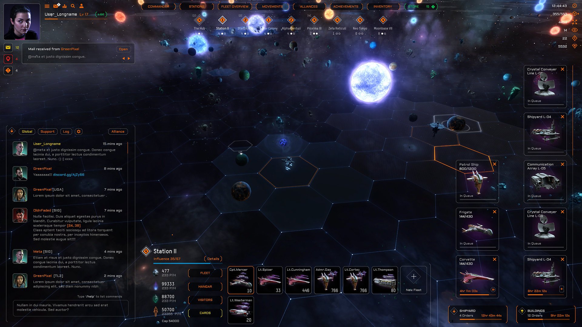 Sneak Peek Of The New HUD! news - Starborne: Sovereign Space