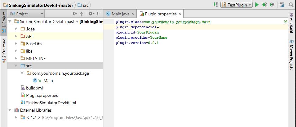 plugin properties