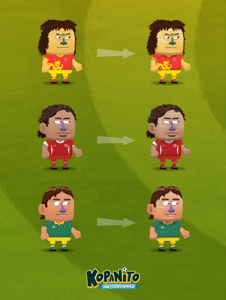 Updated players' look