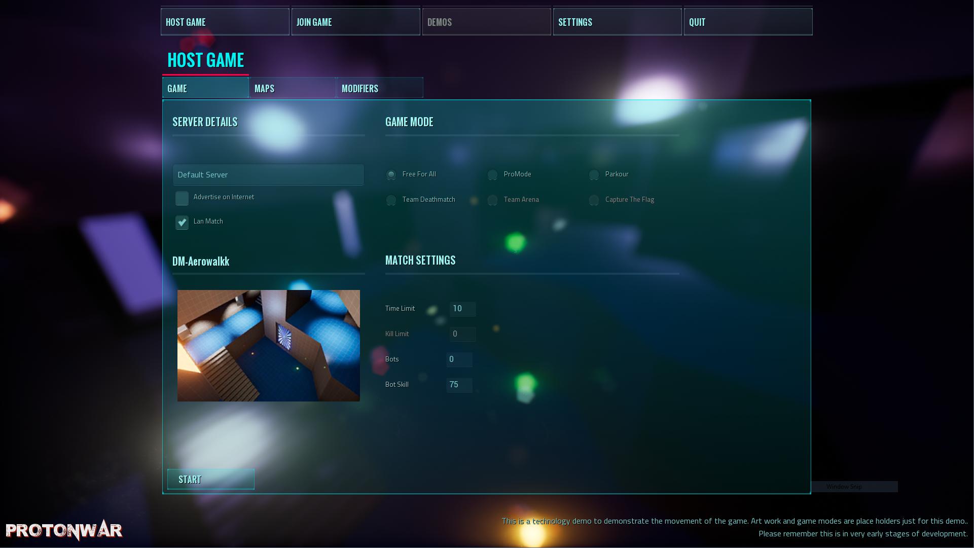 Host GameMenu 1
