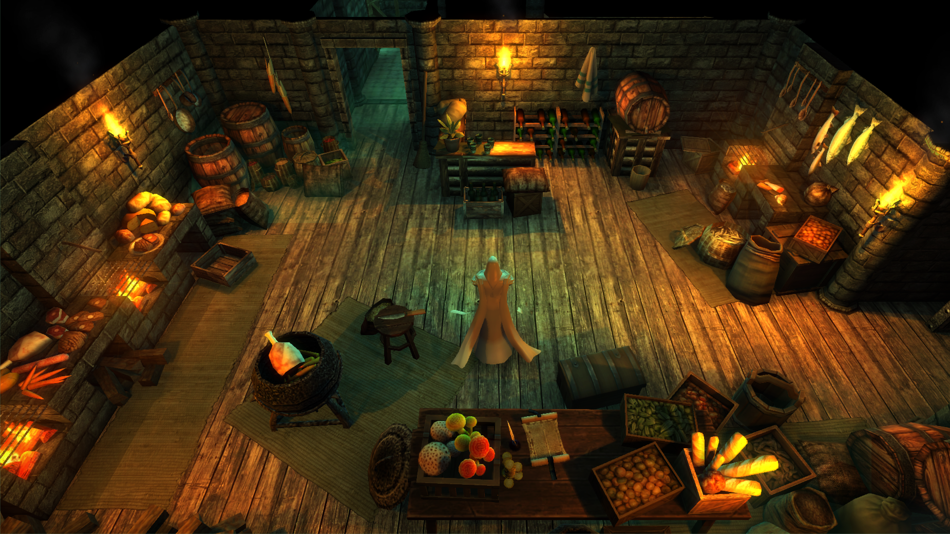kitchen game character camera