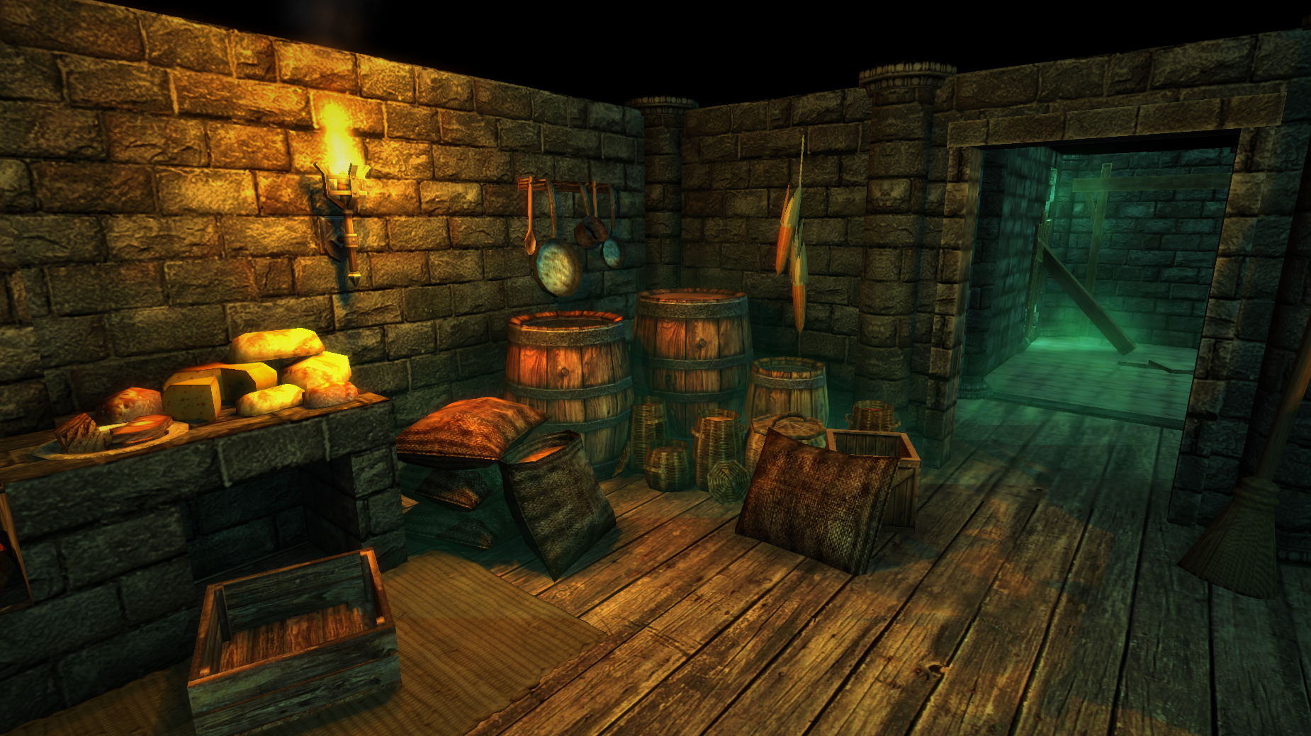 kitchen game exit to cellar