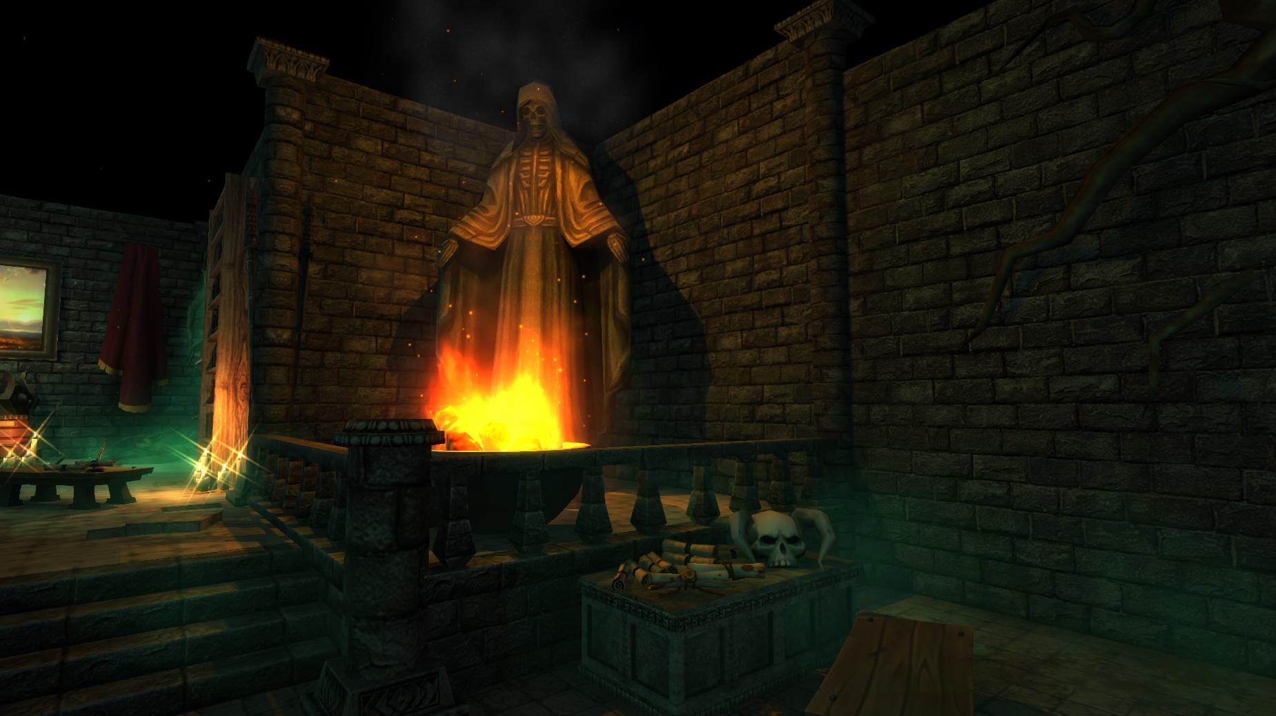 master bedroom Fire Statue