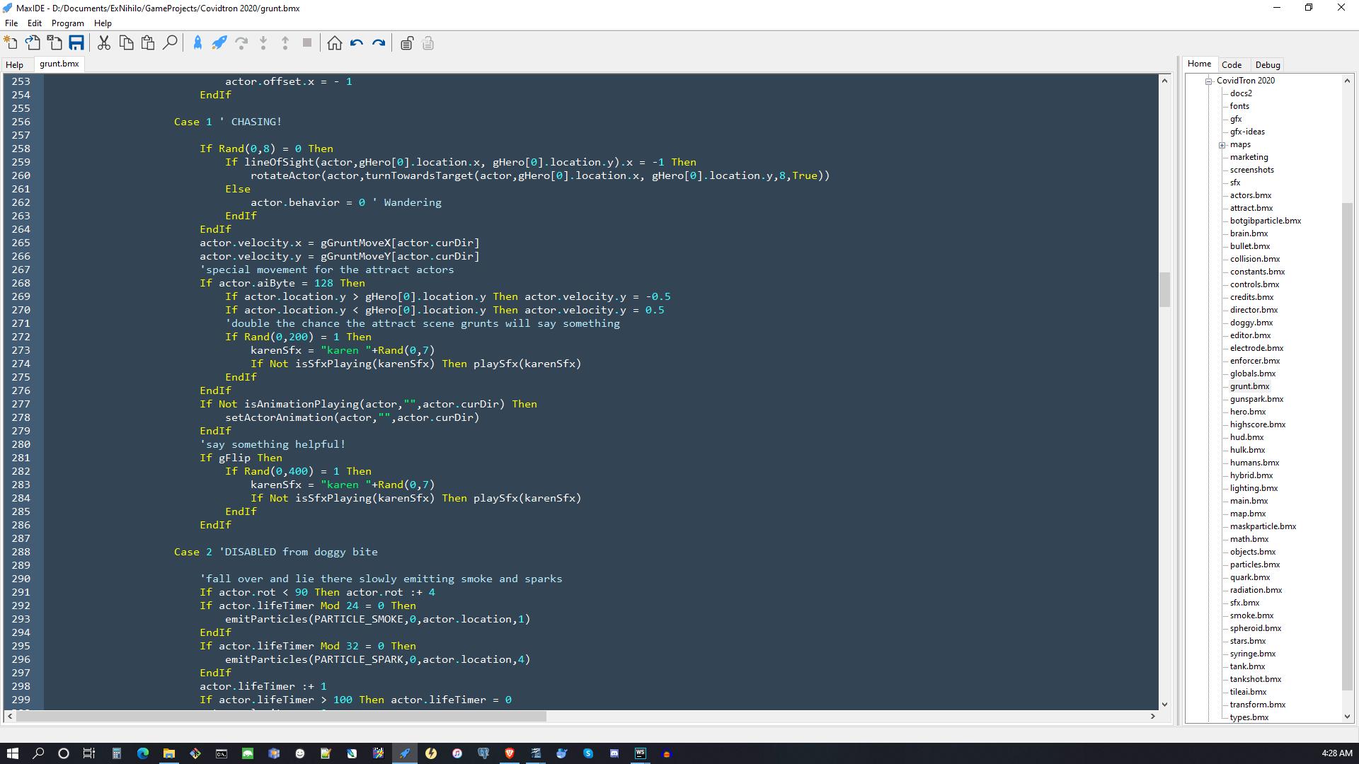 grunt code