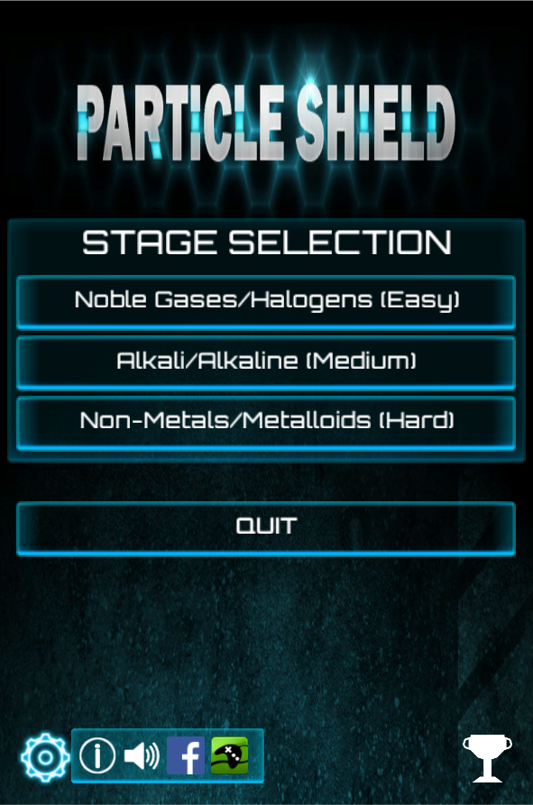 Main menu on mobile