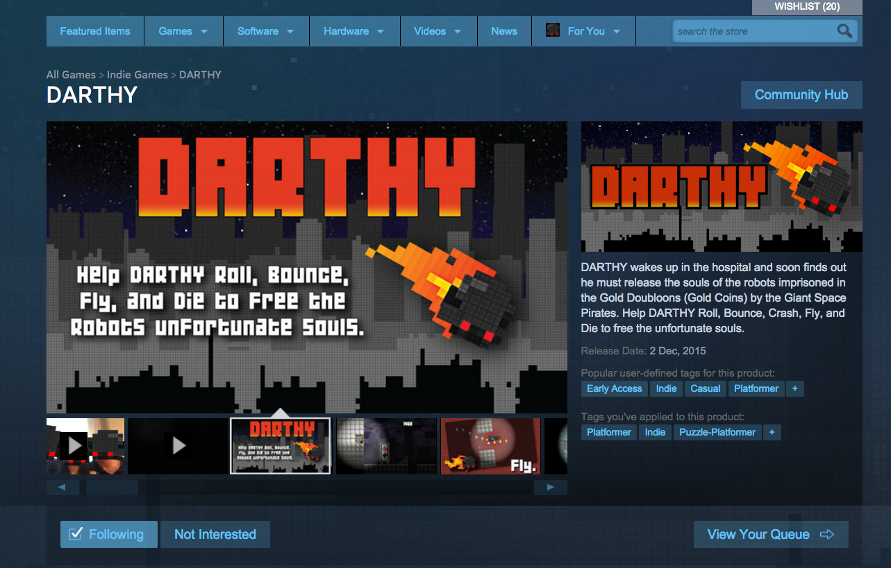 DARTHY steam release
