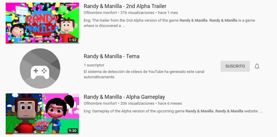 Randy Manilla on Youtube
