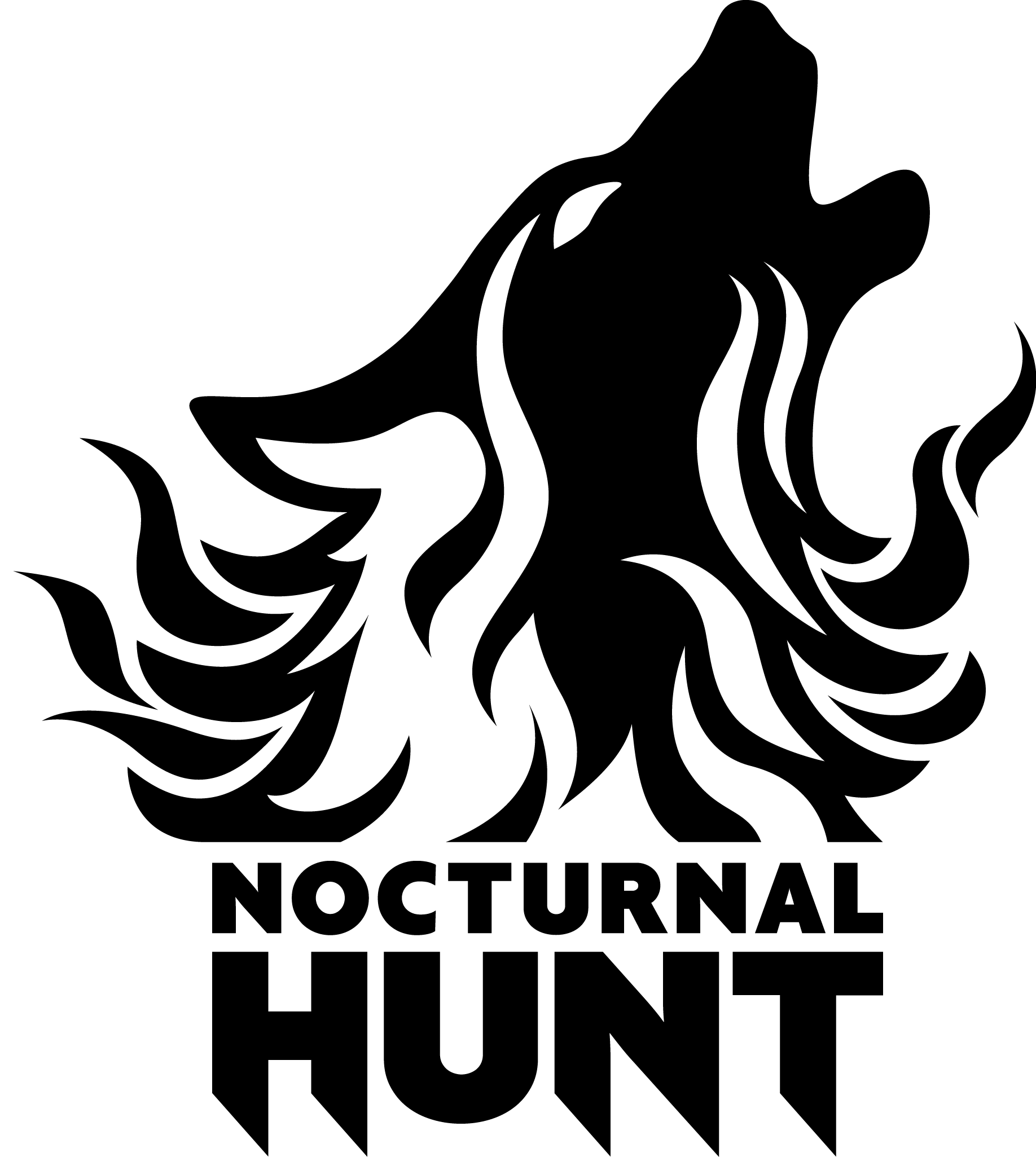 NocturnalHunt Logo rgb bw pos tr