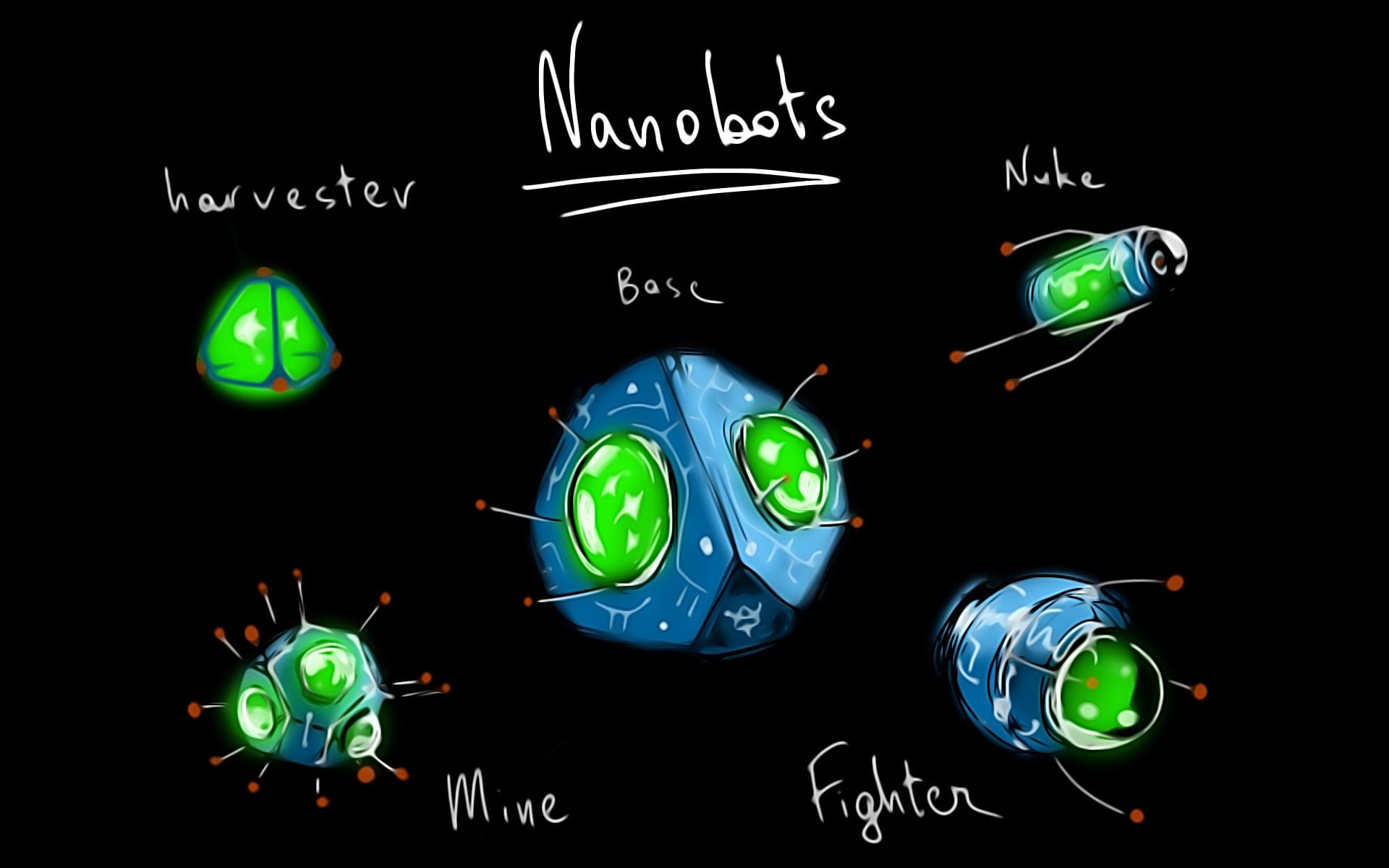 Nano-robotic lifeform sketch