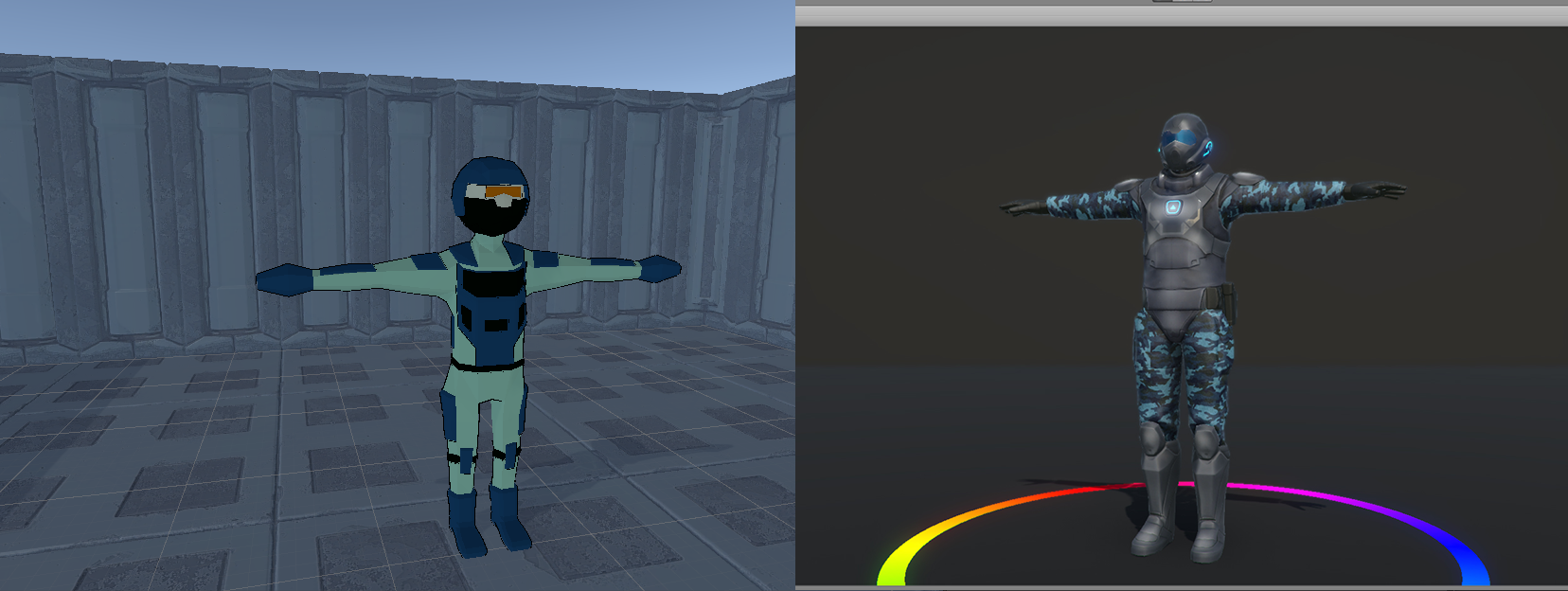 Soldier WIP   Before and After
