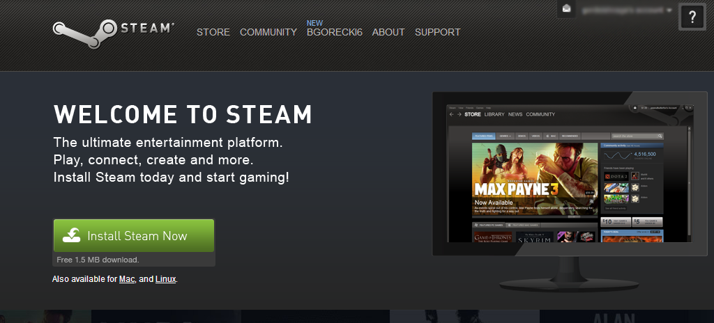 SteamWelcome 1