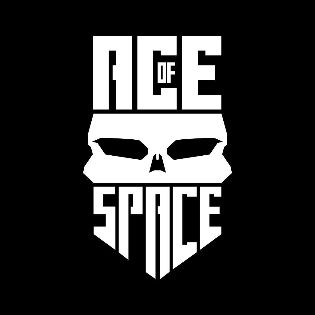 ACEofSPACE LogoWHT Bckgrd BLK 10
