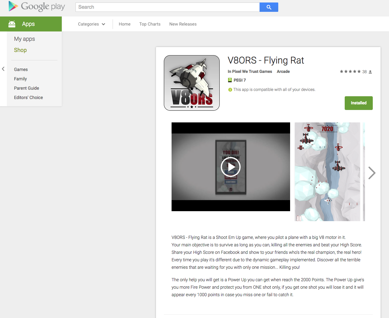 V8ORS-Flying Rat Google Play
