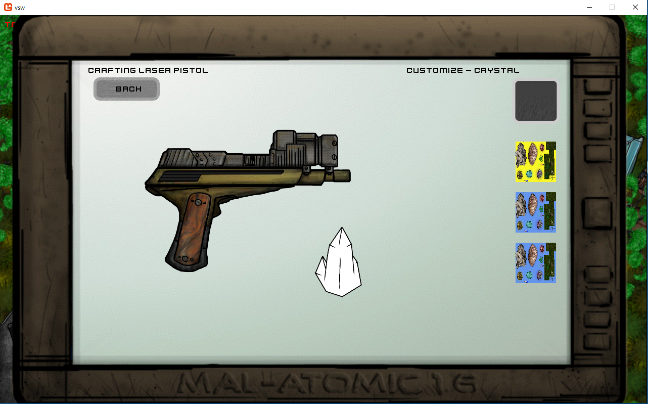 Pistol Crystal Customization