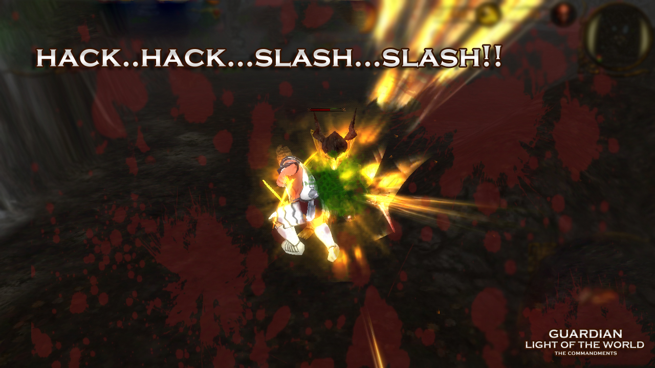 Hack 'n' Slash in guardian light of the world mobile action rpg