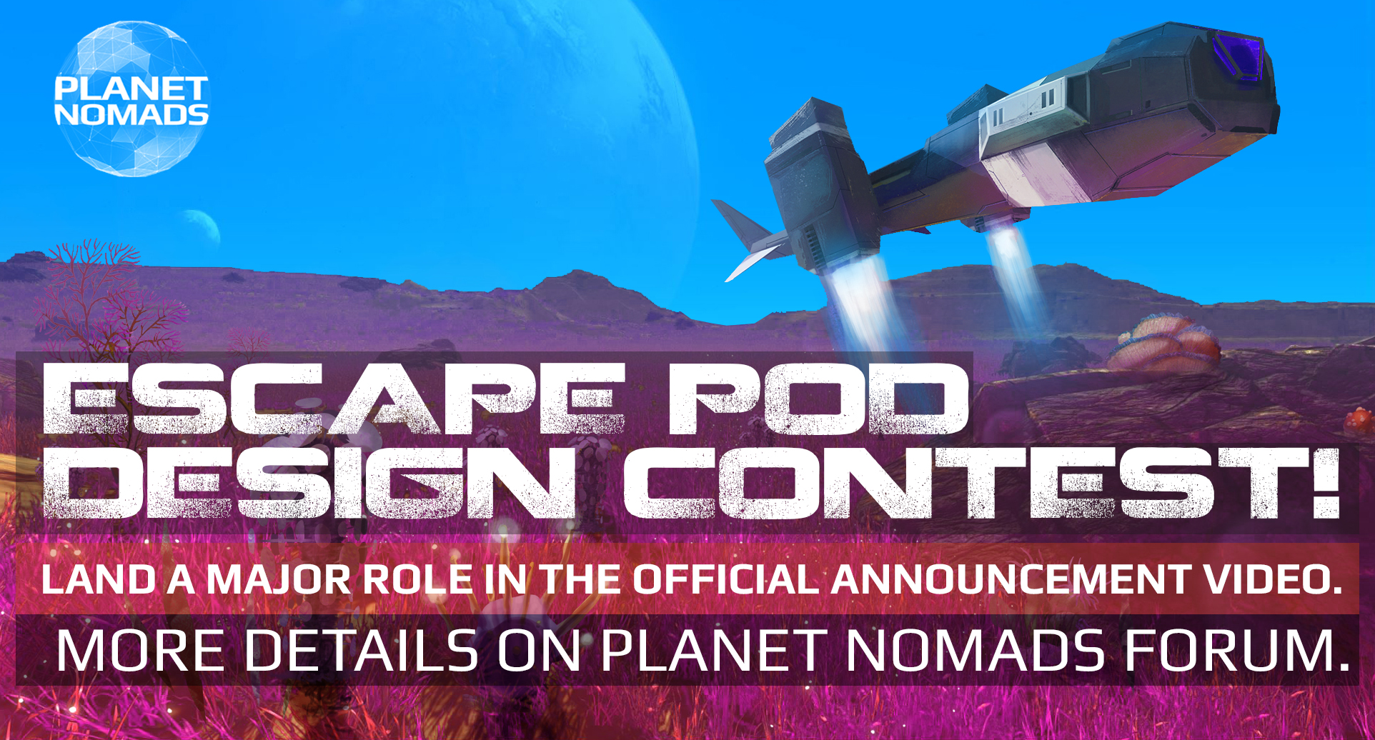 Landing Pod Contest Banner