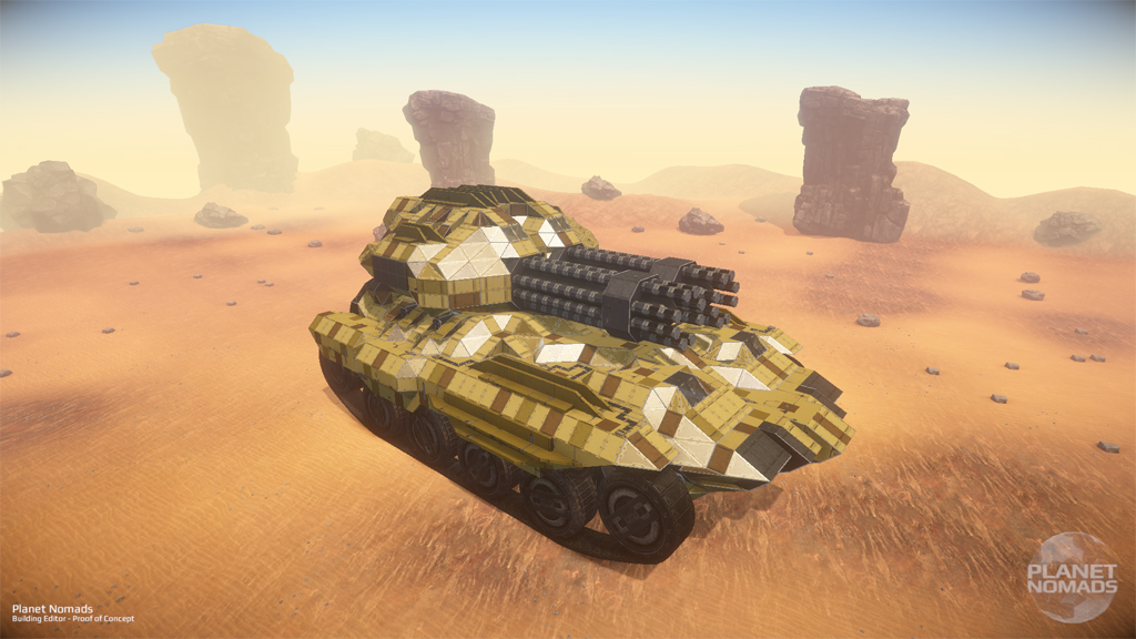 Planet Nomads - Tank on the Beach