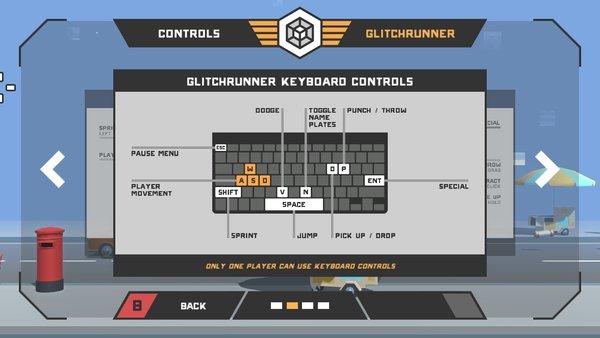 Glitchrunner keyboard controls