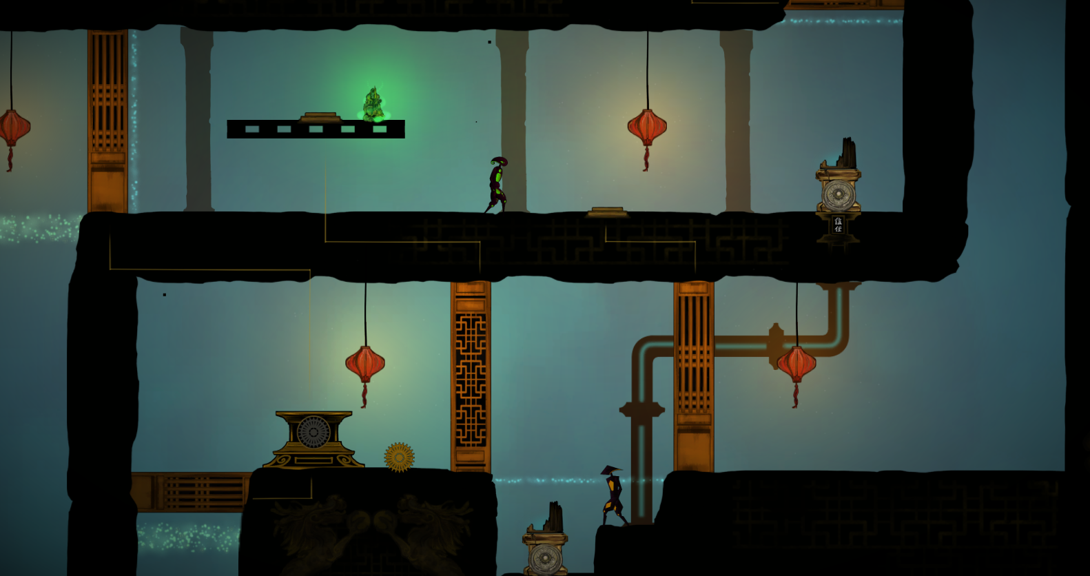 The initial prototype level, after aesthetics.