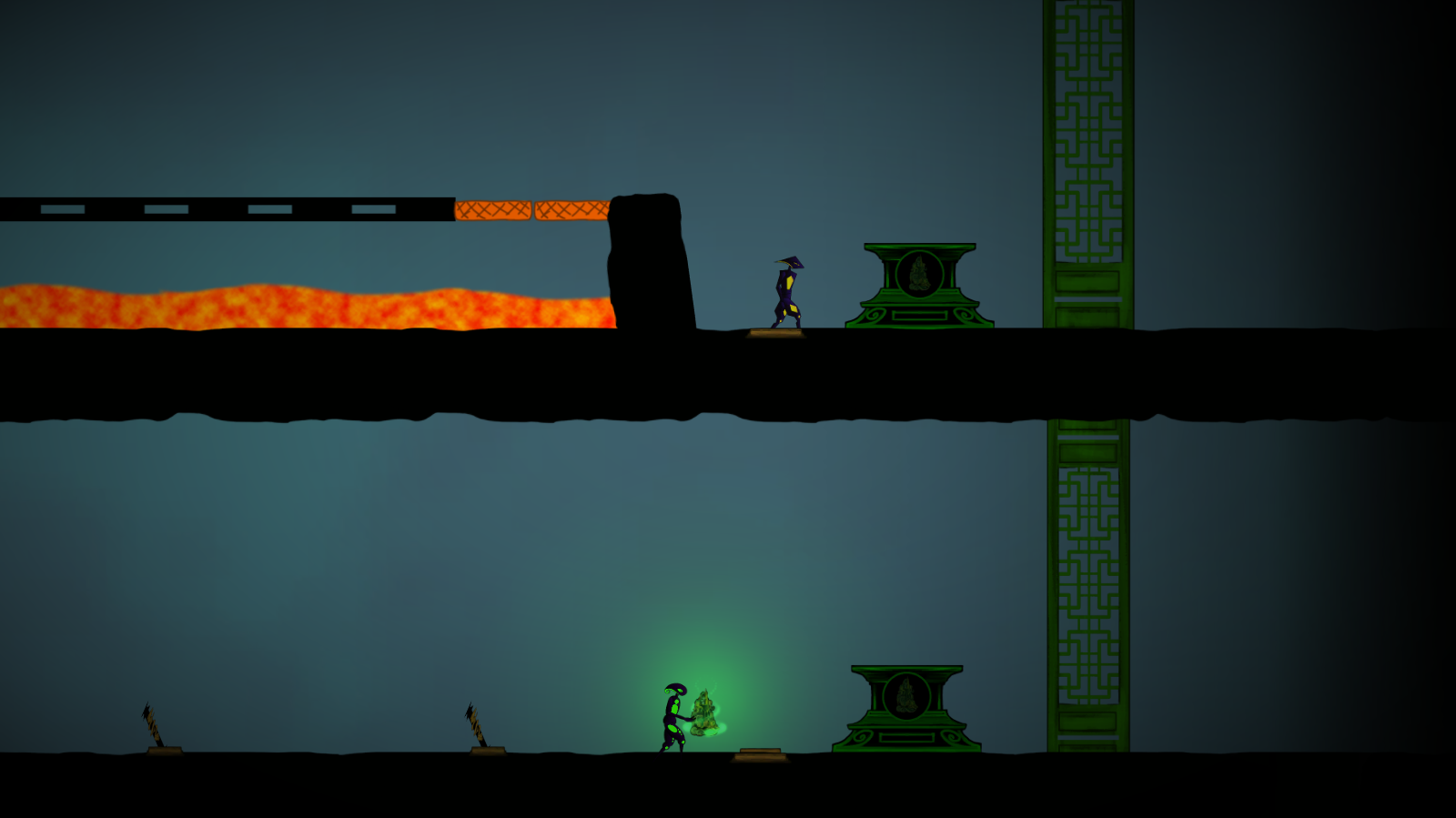 The end of the first Greenlight level.