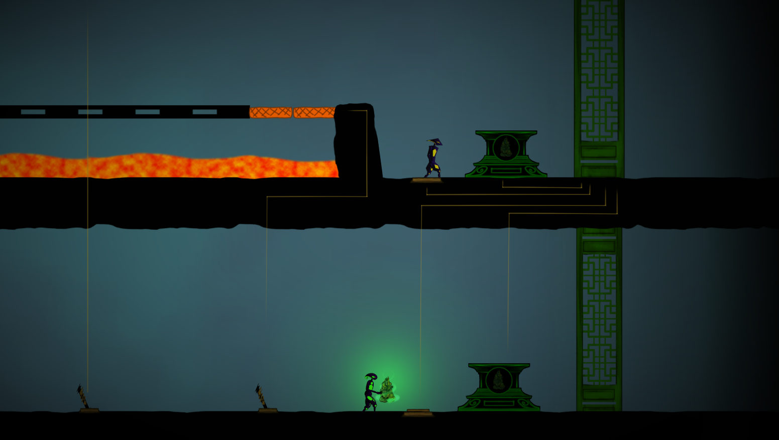 The end of the first Greenlight level, now with some connectors!