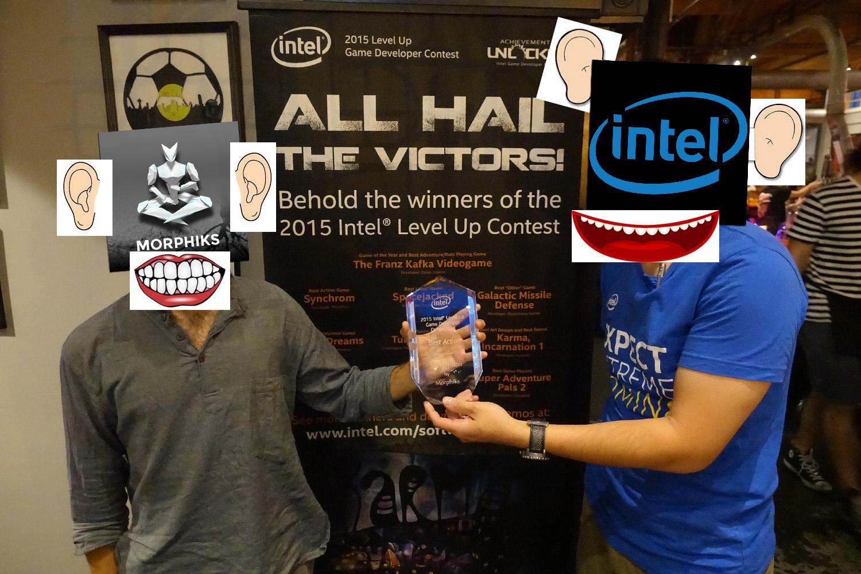Intel award ceremony