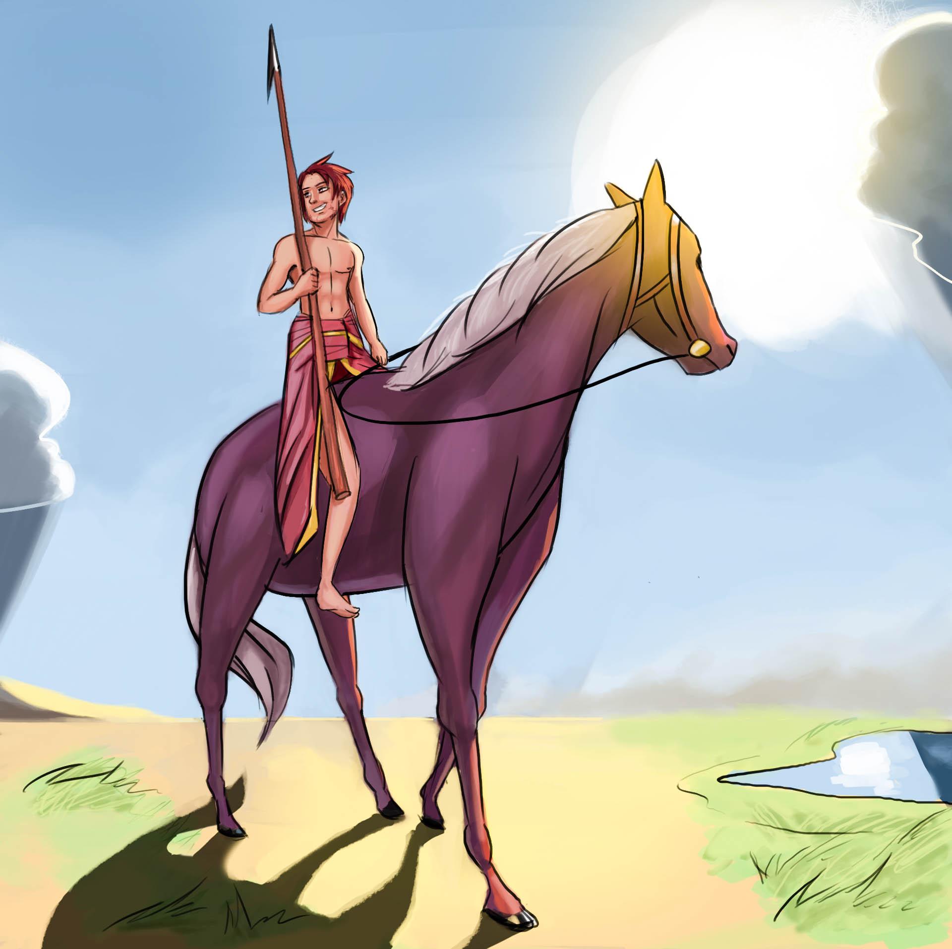 Gilga and horse