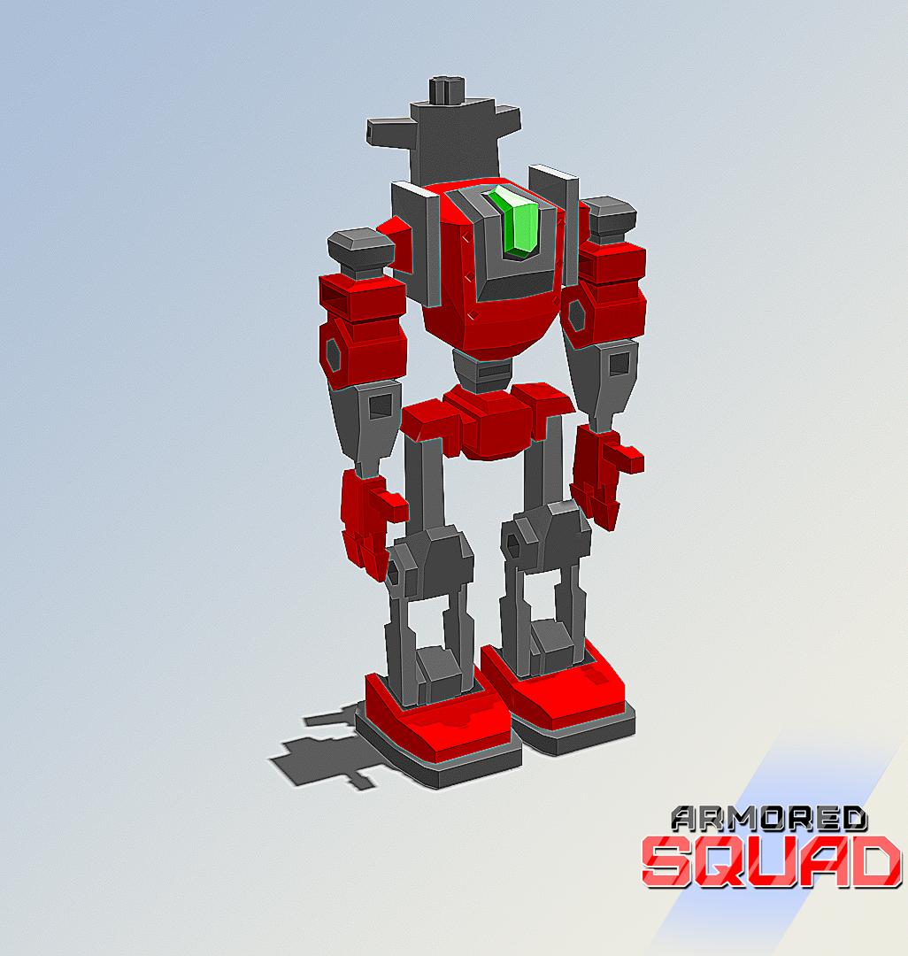 Powerfull humanoid mech