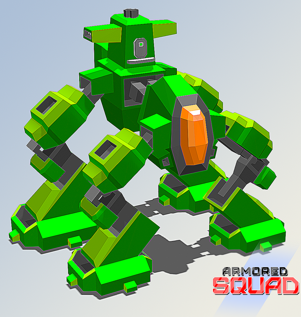 Heavy armored quadrupped mech