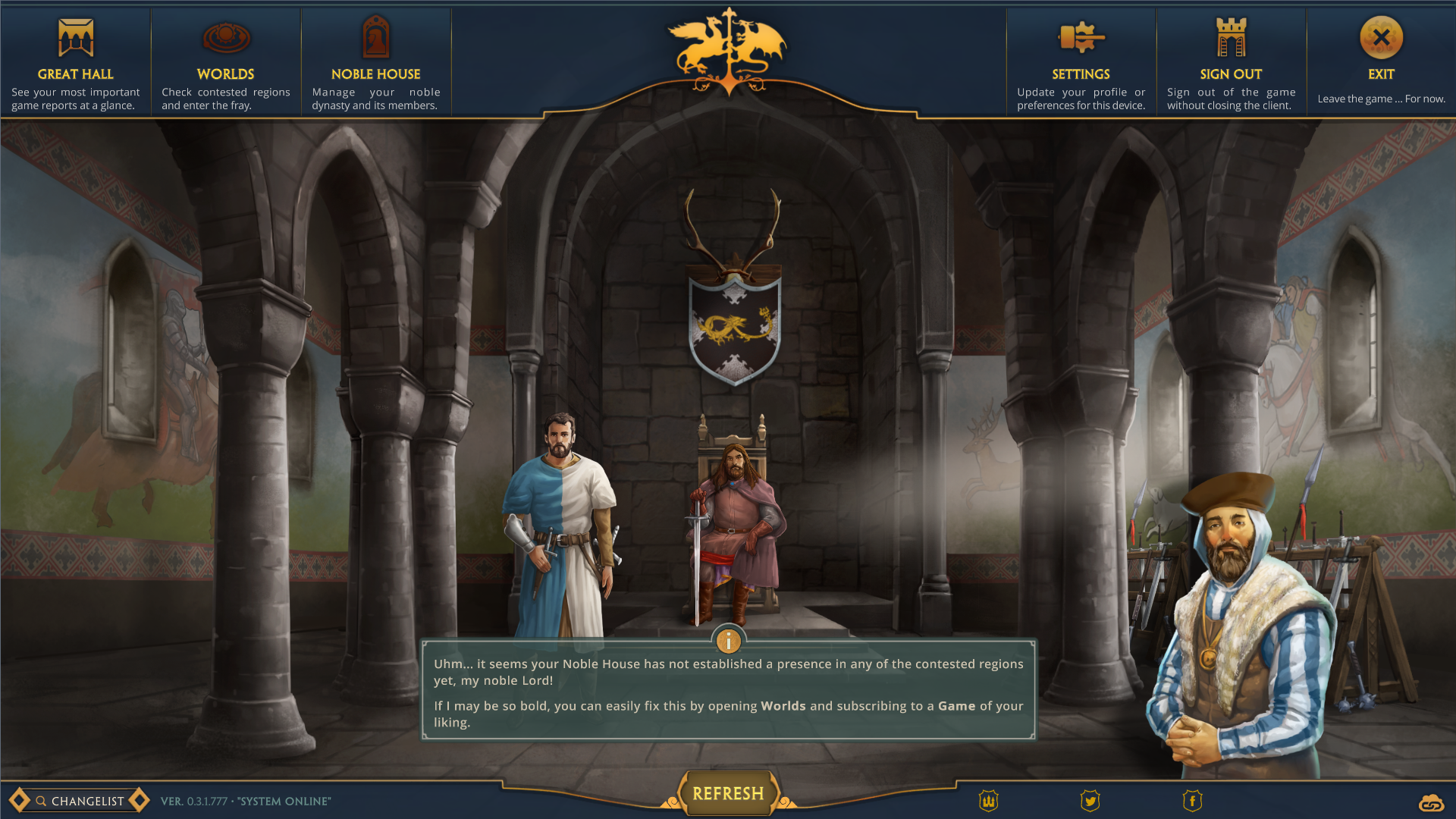 Knights Hall - the customizable diplomacy screen
