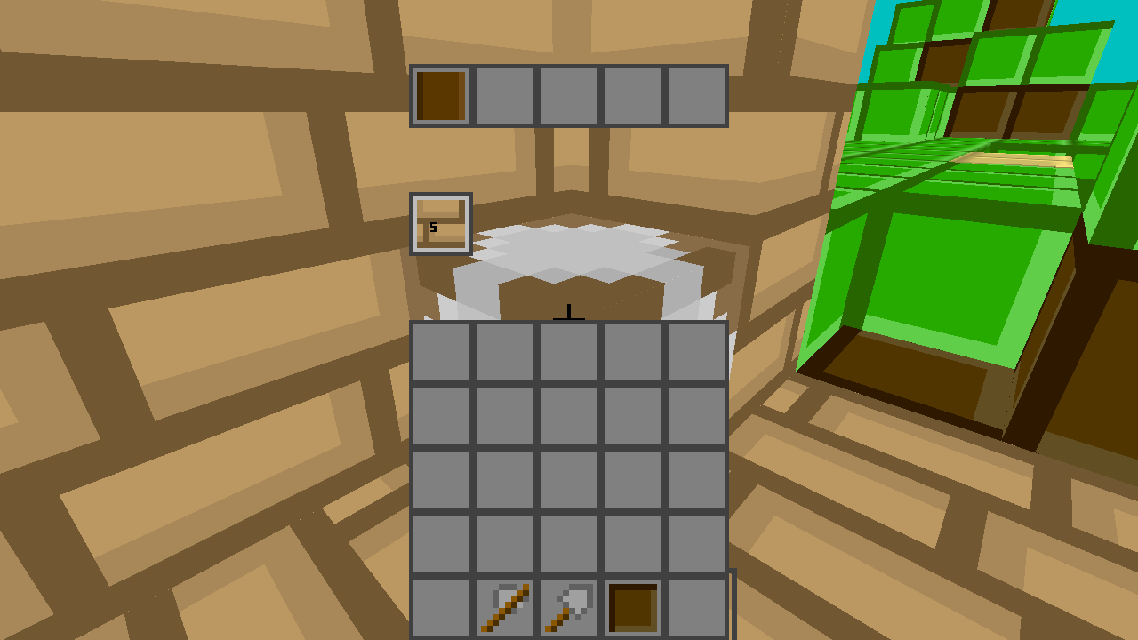 Crafting some wooden planks
