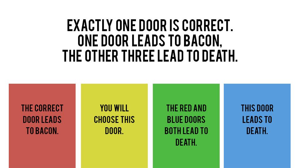 Four door logic puzzle