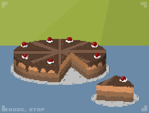 Dude, Stop - Cake card