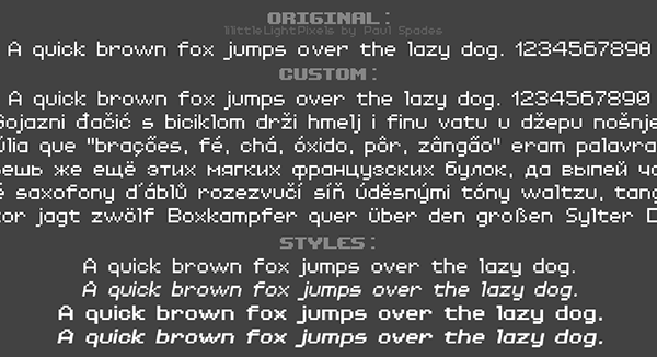 Dude, Stop - Custom multi-language font