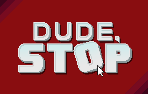 Dude Stop - New Logo