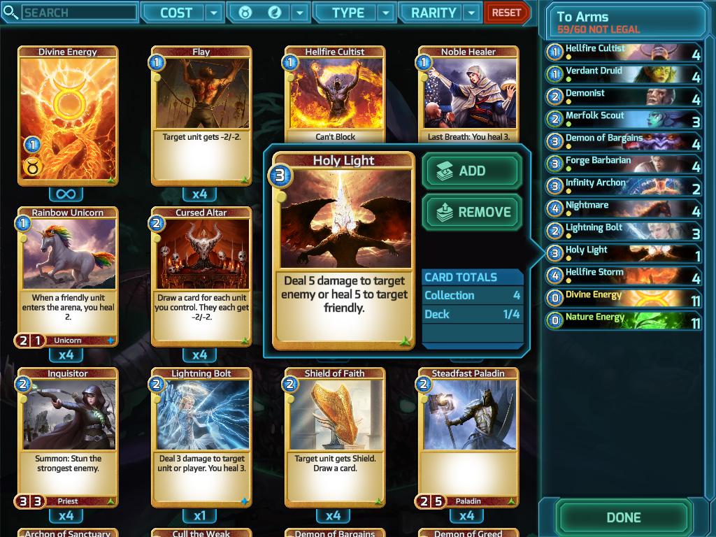screenshot deck builder